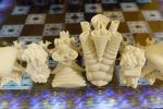3-Dimensional Fractal Chess Set with Menger Sponge based Lenticular Board - Louis Markoya (detail)
